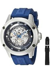 Stuhrling Original Men's 314R.3316C51 Zolara 360 Automatic Skeleton Sport Watch with Rubber Strap Set