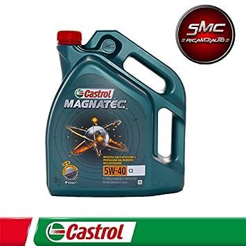 Aceite sintético Castrol Magnatec 5W-40 C3 para motor diesel/gasolina de coches (5 Litros): Amazon.es: Coche y moto