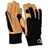 All-Season Women's Leather Gardening Gloves for Your Garden, Pruning, Digging, and Weeding Projects! Strong and Durable Goatskin for Dexterity and Grip, Extra Wide Wrist Cuff for Scratch Protection!
