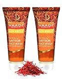Facial Mask Dollar Tree - Skin Whitening Saffron with Sandal Extract Face Wash -★ ALL Natural - ★ Reduces Pigmentation and Tanning - ★ Protects Skin From Sun's Harmful UV Rays - ★ Each 60 Ml - ★ Value Pack of 2 (120 Ml - 4.05 Ounces) - Vaadi Herbals