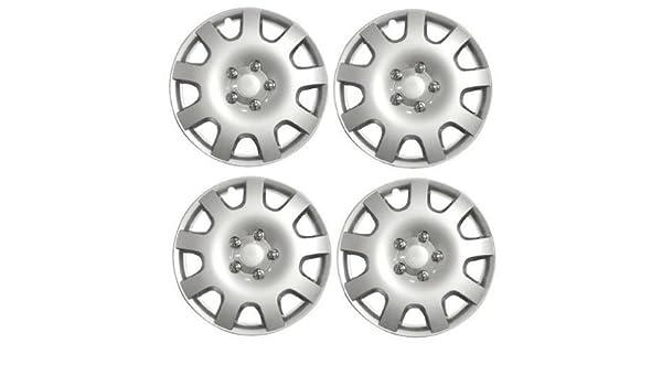 Juego de 4 tapacubos para ruedas de 38 cm de Peugeot 207 (2006) + tapas de válvulas y bridas: Amazon.es: Coche y moto