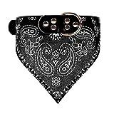 Adjustable Bandanas Dog Bandana Collar Pet Cat Neckerchief for Dogs Puppy Pet Products Collars Scarves Pet Accessories (Black)