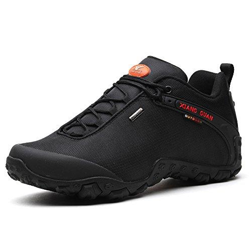 Xiang Guan Scarpe Da Trekking Impermeabili Allaria Aperta Da Uomo Walking Walking 81283 Nero Nero Confortevole