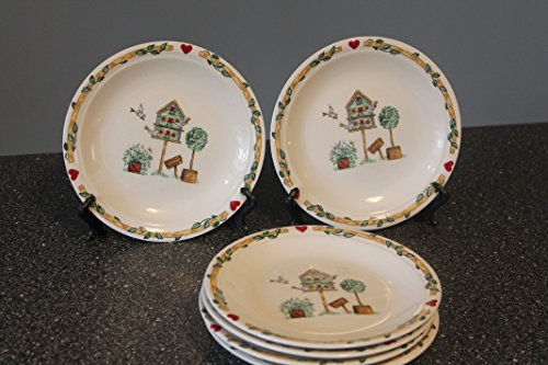 - Thomson Birdhouse Bread and Butter Plates set of 5