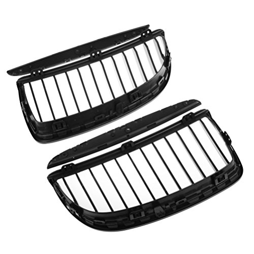 Astra Depot Glossy Black Front Upper Kidney Grille Kit for 2007-2008 E90 323i 328i 328xi 335i 335xi Pre-Facelift