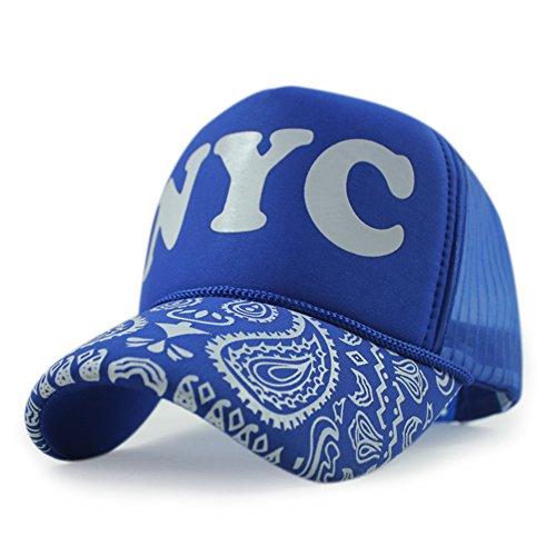 Del De Impresión Sombrero Lengüeta Tapa Visera azul Camión Conductor De Solar Béisbol Gorra La De Protección De ajustable dHrHx6w0