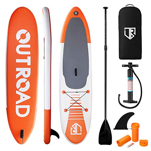 Max4out Inflatable SUP Stand Up Paddle Board Surfboard 11' Soft Surf Board 6'' Thick