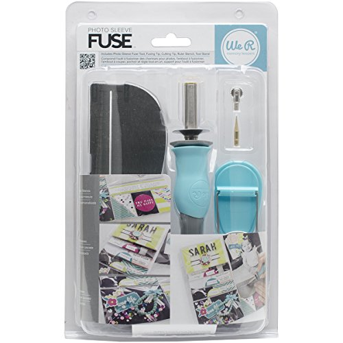 - American Crafts Photo Sleeve Fuse Starter Kit by We R Memory Keepers | Includes tool, fusing tip, cutting tip, ruler stencil, and tool stand