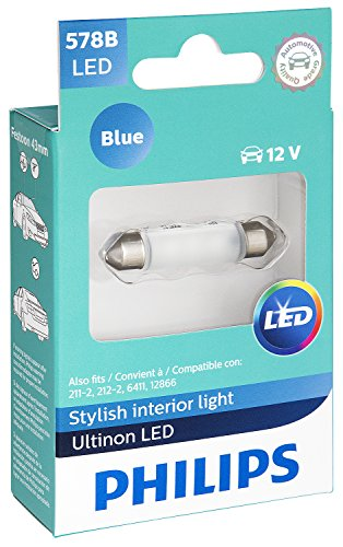 Philips 578 Ultinon LED Bulb (Blue), 1 Pack