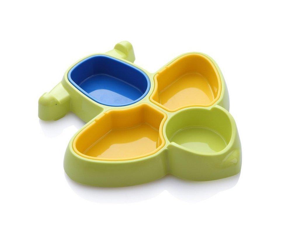 LLZJ Babies Tableware Dishes Bowl Children's Cutlery Toddler Feeding Training,Green