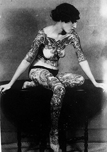 Vintage Tattoo History 14 x 11 Photo Print