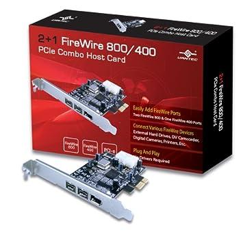 Amazon.com: Vantec 2+1 FireWire 800/400 PCIe Combo Host Card (UGT ...