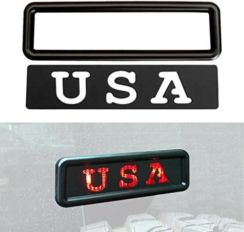Allinoneparts USA セット サードブレーキライトカバー デカール アクセサリーセット ジープ・ラングラー JK JKU 2007 2008 2009 2010 2011 2012 2014 2013 2014 2015 2016 2017 2018用