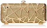 MG Collection Stella Minaudiere Evening Bag, Gold, One Size