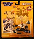 : OLAF KOLZIG / WASHINGTON CAPITALS 1998 Extended Series NHL Starting Lineup Action Figure & Exclusive Pacific NHL Collector Trading Card