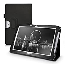 kwmobile Elegant synthetic leather case for Acer Iconia One 10 (B3-A30) in black with convenient STAND FEATURE