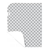 Kushies Baby Deluxe Change Pad, Grey Lattice