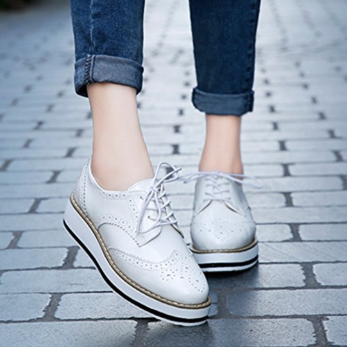 Weiß Femme Chaussures AARDIMI à Lacets qxItAO