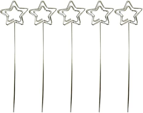 Amazon Com Booluee 30 Pcs Metal Wire Place Card Holders Photo Clip Holders Craft Table Card Holders Memo Note Photo Metal Clamps Clay Decor Cake Toppers Wedding Party Decorations Star Home Kitchen