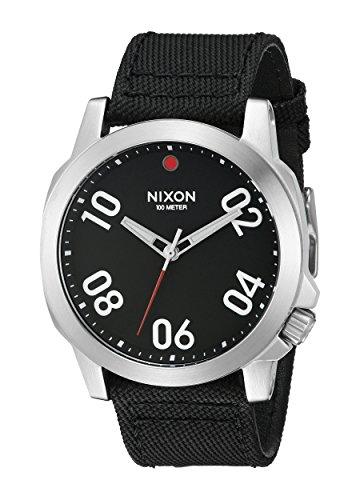 Nixon A514008 Ranger 45 Nylon Black / Red Men's Watch