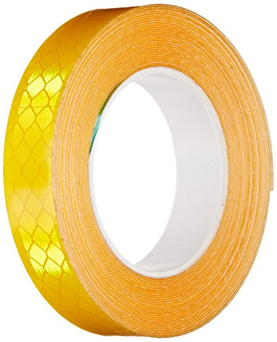 3M 3431 Yellow Micro Prismatic Sheeting Reflective Tape - 0.5 in. x 15 ft. Non Metalized Adhesive Tape Roll. Safety Tape