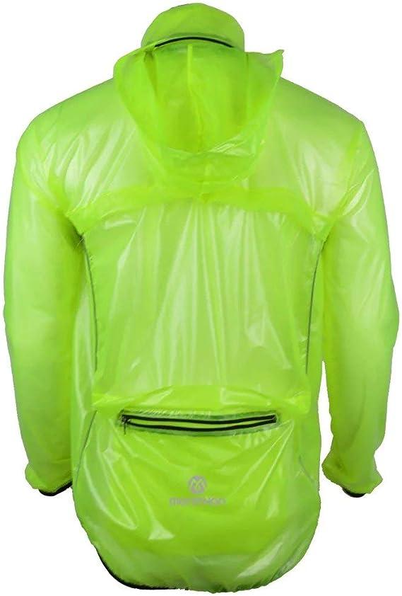 Rain Jacket w//Hood Hi-Vis Yellow//Green L