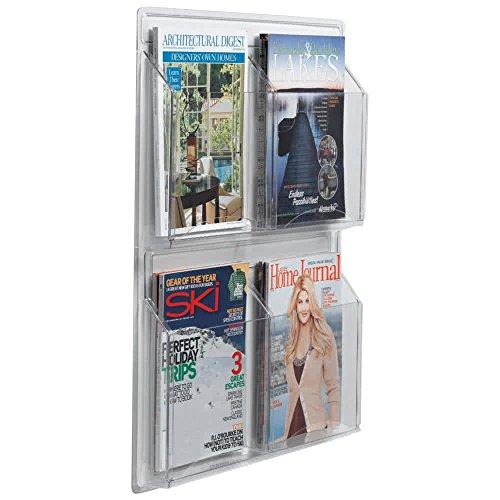 "TableTop King LRC104 21"" x 25"" Clear-Vu 4-Pocket Magazine Display"