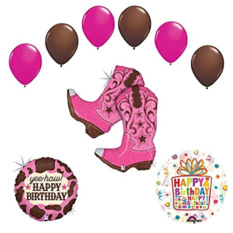 Amazon Wild West Cowgirl Boots Birthday Party Supplies And Balloons Decorations Everything Else
