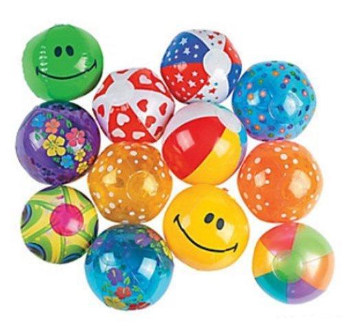 Fun Express Mini Inflatable Beach Balls - 5 Inches - 25 Piece Pack