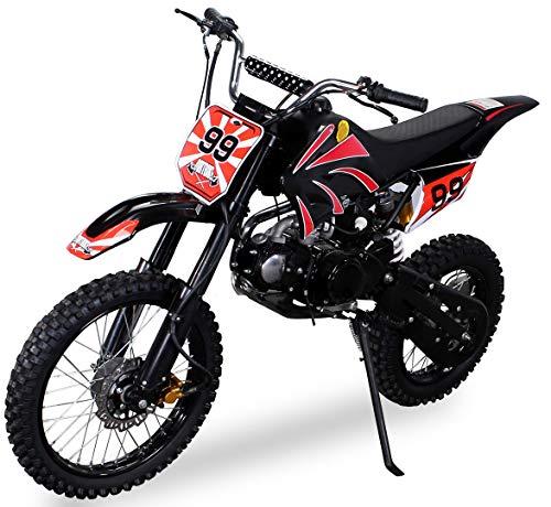Actionbikes Motors Midi Kinder Jugend Crossbike JC125 125 cc – Hydraulische Scheibenbremsen – CDI Zündung – Bis 80 Km/h…