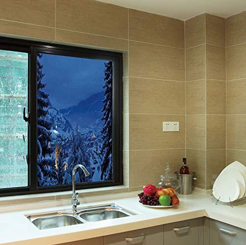 - YOLIYANA No Glue Window Film,Farm House Decor,for Window Moving Glass Door,Winter Pine Trees Forest in European Woodland by,24''x36''
