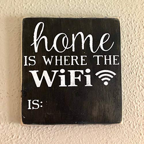 qidushop Cartel de Pizarra con Texto en inglés Home Is Where ...