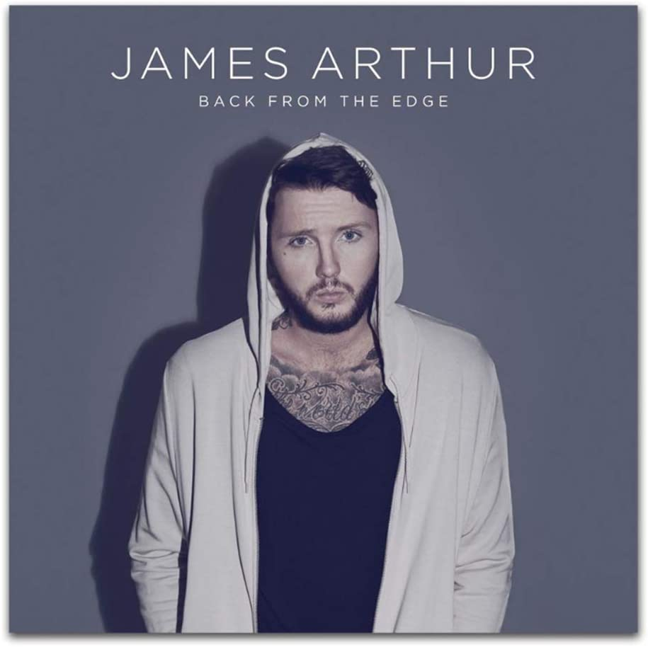 James Arthur Back from the Edge 2018 Pop Music Album Posters e impresiones Singer Art Poster Canvas Painting Home Decor-50x50cm Sin marco