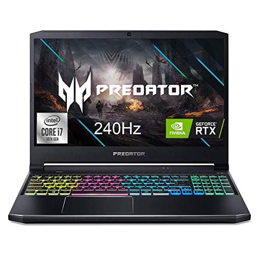 Acer Predator Helios 300 Core i7 10th Gen – (16 GB/1 TB HDD/256 GB SSD/Windows 10 Home/8 GB Graphics/NVIDIA GeForce RTX 2070/FHD 240Hz) PH315-53 Gaming Laptop (15.6 inch, Abyssal Black, 2.5 kg)