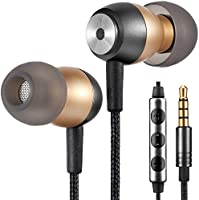Betron GLD60 Noise Isolating in Ear Earphones Headphones for Samsung with Volume Control and Microphone