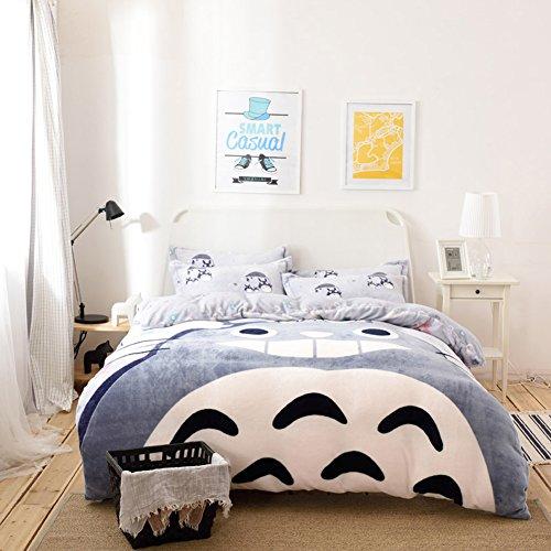 Totoro Bed Set: Sport Do Winter New! My Neighbor Totoro Thicken Flannel 4