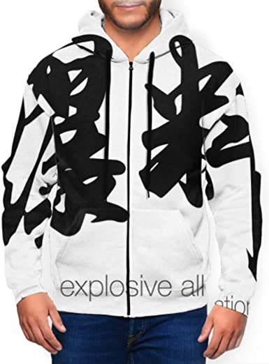 Long Sleeve Hoodie Print House and Snowman in Winter Forest Jacket Zipper Coat Fashion Mens Sweatshirt Full-Zip S-3xl