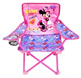 Minnie Camp Chair for Kids, Portable Camping Fold N Go Chair with Carry Bag