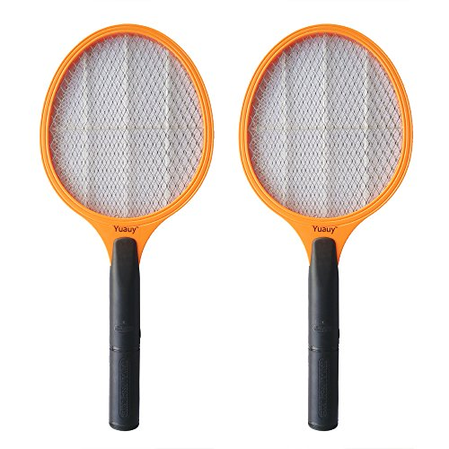 Yuauy 2 PCs Handheld Electric Mosquito Bug Fly Zapper Rac...