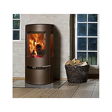 Aduro 9 Wood Burning Stove 6 Kw Metallic Brown Defra High