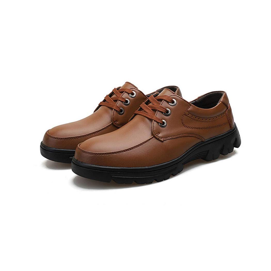 Zxcer Herren Leder Leder Leder niedrig zu helfen, britische Retro Schuhe High-End Lace Up Formale Business Schuhe Non-Marking Outsole Stiefelschuh 39dd2b
