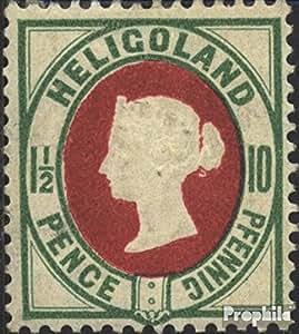 sellos para coleccionistas: Helgoland 14e con charnela 1890 Reina Victoria