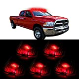CCIYU 5x Smoke Cab Marker Clearance Running light T10 6SMD Red LED Light For 1988-2000 Chevrolet C2500 C3500 K1500 K2500 C1500 K3500 1988-2000 GMC C1500 C2500 C3500 K1500 K2500 K3500 etc