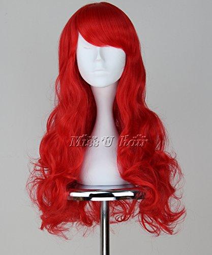 La Sirenita Princesa Ariel cosplay peluca rojo ondulado cabello: Amazon.es: Ropa y accesorios