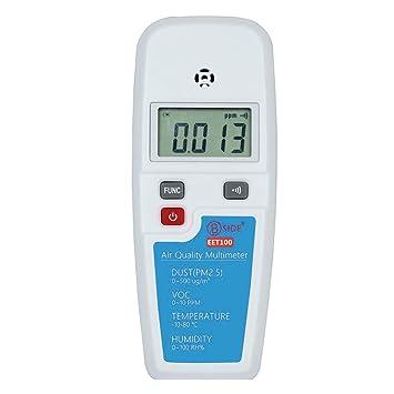 Widewing Detector de Calidad del Aire de Formaldehído PM2.5, Sensor de VOC de Polvo del Comprobador: Amazon.es: Bricolaje y herramientas