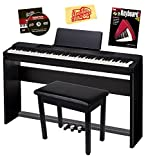 Casio Privia PX-150 Digital Piano Bundle with Gearlux Furniture-Style Bench, Casio SP-67 Furniture-Style