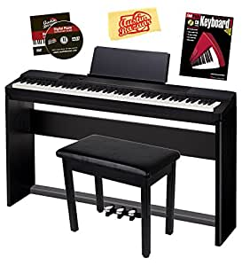 casio privia px 150 digital piano bundle with gearlux furniture style bench casio sp 67. Black Bedroom Furniture Sets. Home Design Ideas