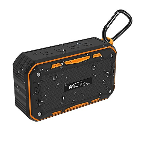 Bluetooth Speaker  Astarry Ipx7 Waterproof Stereo Portable Wireless Speaker With Universal Bike Holder Enhanced Bass 24Hours Playtime Tf Card Support Built In Microphone