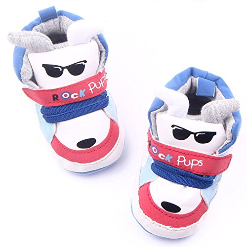 Leap Frog Cartoon High Top Sneaker - Zapatos primeros pasos de Piel Sintética para niño Red