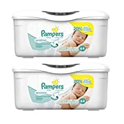 Pampers Sensitive Water Baby Wipes Tub, 128 Count